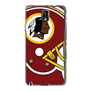 RobAmarook Samsung Galaxy Note 3 Shock Absorption Hard Phone Cases Customized Lifelike Washington Redskins Series [plj16811wtds]