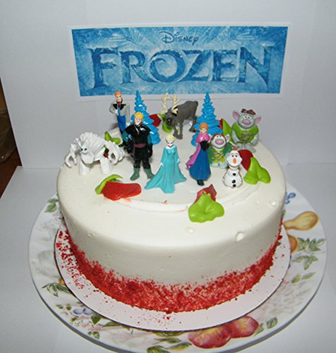 Amazoncom Disney Frozen Figure Set Mini Cake Toppers Mini Cup Cake