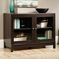 Sauder 416408 Inspired Accents Harper Display Cab, Cinnamon Cherry