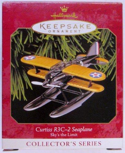 Hallmark Keepsake Ornament - Curtiss R3C-2 Seaplane, Sky's the Limit, Third in Series 1999 (QX6387) - 1999 Replica