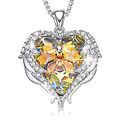 Pendant With Embellished Yellow Crystals from Swarovski