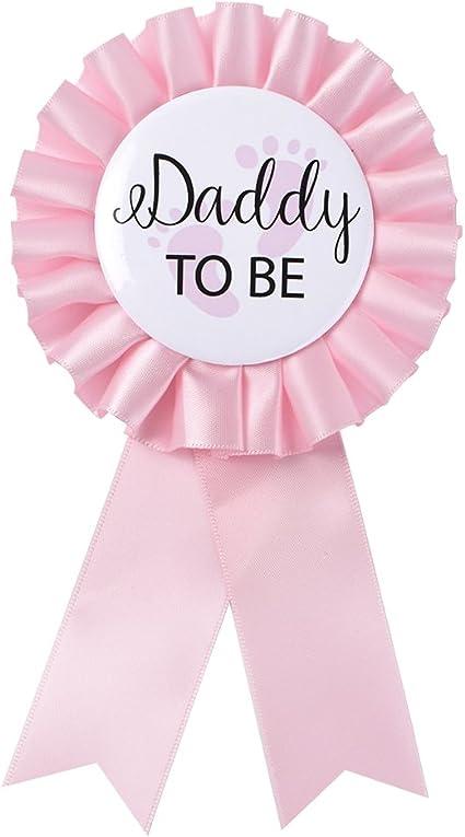 Gold Glitter Badge Baby Shower Mum To Be Rosette