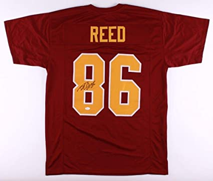 effc9bbb9 Jordan Reed Autographed Signed Redskins Throwback Jersey Memorabilia - JSA  Authentic