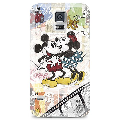[Ashley Cases] TPU Clear Skin Cover Case for Samsung Galaxy Note 4 - Disney Mickey Mouse Kissing