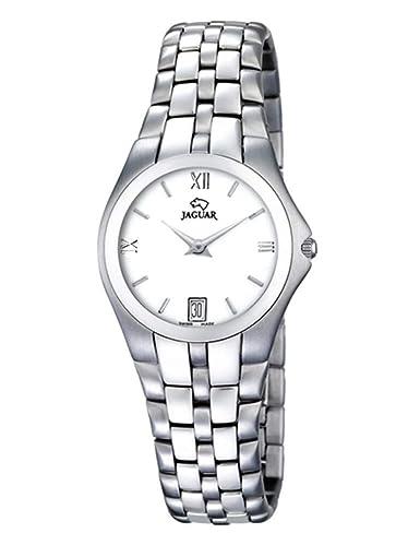 Reloj Jaguar J303/4 extraplano, con Cristal Zafiro, Calendario y Cierre Oculto: Amazon.es: Relojes
