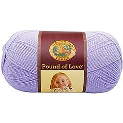 Lion Brand Yarn 550-144 Pound of Love Yarn, Lavender