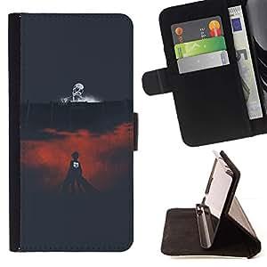 Momo Phone Case / Flip Funda de Cuero Case Cover - Muerte Arena;;;;;;;; - Sony Xperia M4 Aqua