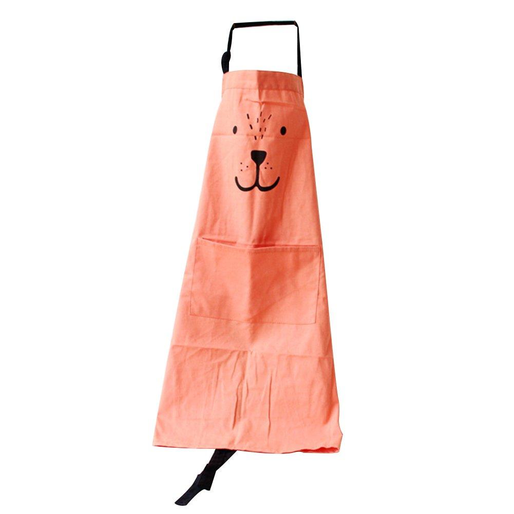 Yeshi entre padres e hijos Interactivo de delantal carcasa cocinas Animal Print algod/ón lino home utensilios de cocina lino gris algod/ón Kid