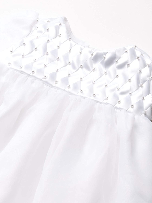 Jayne Copeland Baby-Girls Newborn Christening Basket Weave Ribbon Dress