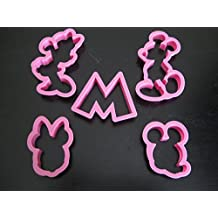 Mickey and Minnie Mouse Cookie Cutter Mold Cupcake Birthday Party Favor Set by EMES