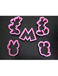 Mickey and Minnie Mouse Cookie Cutter Mold Cupcake Birthday Party Favor Set