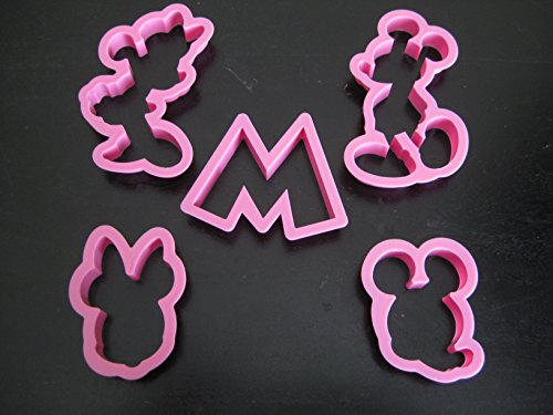 Mickey and Minnie Mouse Cookie Cutter Mold Cupcake Birthday Party Favor Set (Mickey Mouse Cookie)