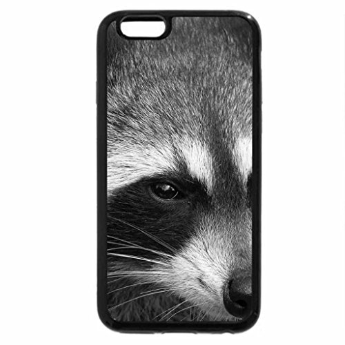 iPhone 6S Plus Case, iPhone 6 Plus Case (Black & White) - A dark faced mask and ringed tail.