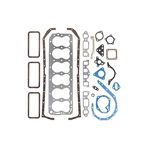 MACs Auto Parts 47-18082 Engine Gasket Set - Complete - Fel-Pro Brand - Steel Head Gasket - 6 Cylinder H Engine - Ford