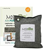 MOSO NATURAL: The Original Air Purifying Bag 500g. for Kitchen, Basement, Bedroom, Family Room. an Unscented, Chemical-Free Odor Eliminator. (Charcoal)