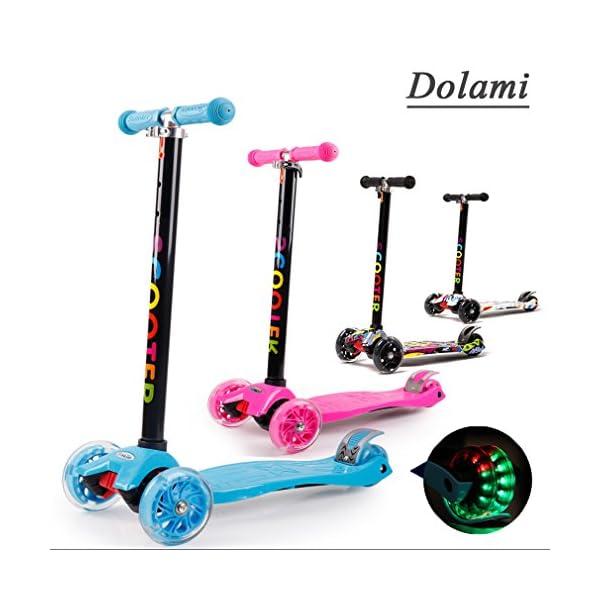 Niños Patineta Led De Roll Luz 3 Con Dolami Para Twistamp; Ruedas Rq4Lc35Aj