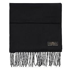 Fhc Enterprize 100 Cashmere Ladies And Mens Scarves Black