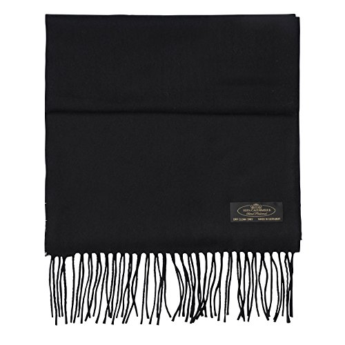 FHC Enterprize 100% Cashmere Ladies and Mens Scarves (black)