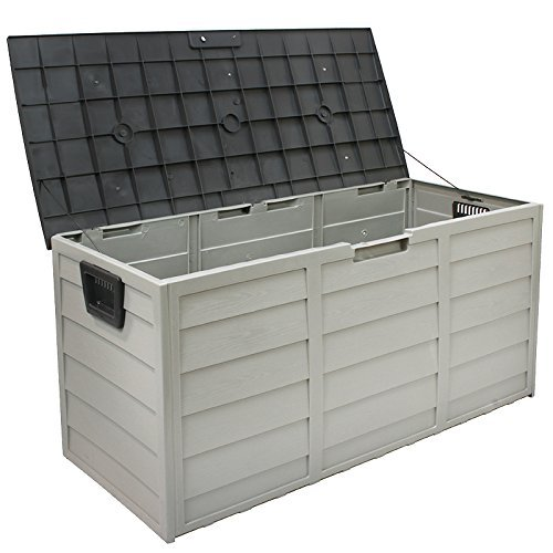 63 Gallons Storage Deck Box Pool Side Patio Backyard Garden