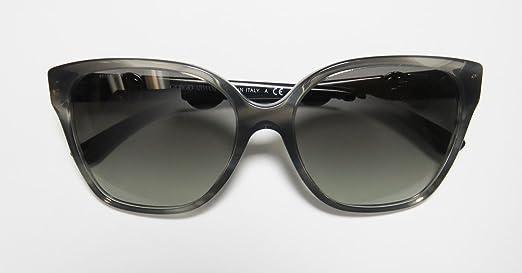 bf9027b1654d7 Giorgio Armani Flared Square Sunglasses in Striped Grey AR8061 520011 56 56  Gradient Grey  Amazon.ca  Luggage   Bags