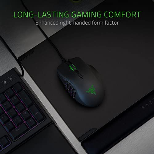 Razer Naga Trinity Gaming Mouse: 16,000 DPI Optical Sensor – Chroma RGB Lighting – Interchangeable Side Plate w/ 2, 7, 12 Button Configurations – Mechanical Switches 51rGU3RQ5 L