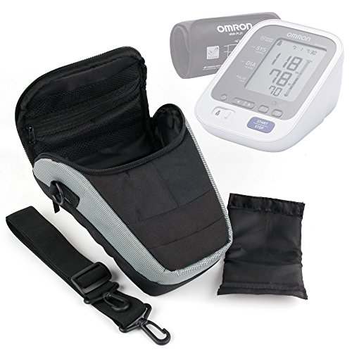 Ultra-Portable Carry Case with Shoulder Strap in Black & Grey for the Suaoki Portable Car Tyre Inflator - by DURAGADGET