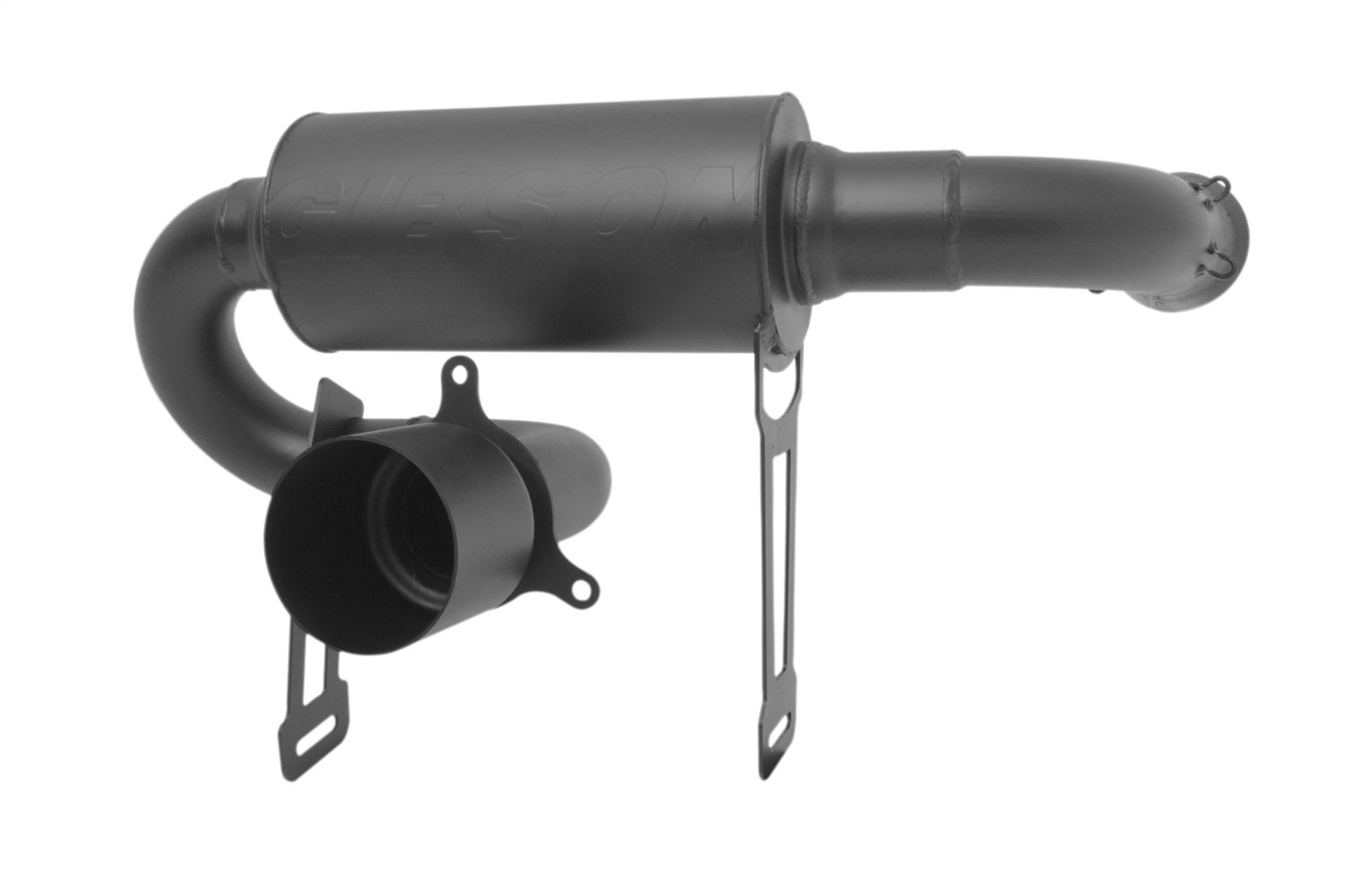 Black Ceramic Gibson Performance Exhaust Gibson 98032 Can-Am UTV Single Exhaust