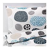 Ikea Ringkrage Queen Duvet Cover and Pillowcase, Blue White