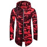 REYO Men's Jacket Winter Camouflage Hooded Zipper Coat Jacket Cardigan Long Sleeve Outwear Blouse