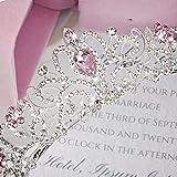 Didder Silver Tiara for Women, Pink Crystal Tiaras