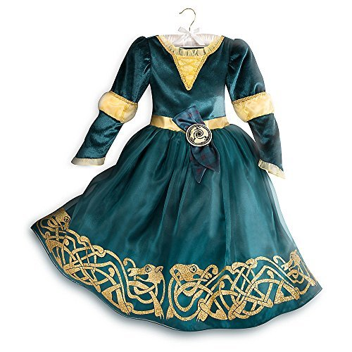 DISNEY STORE PRINCESS MERIDA BRAVE COSTUME DRESS GOWN ~ 2016 (9/10)