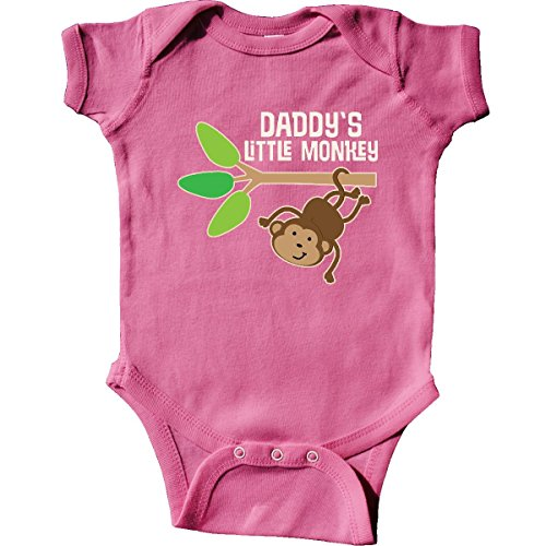 (inktastic - Daddy's Little Monkey Infant Creeper 6 Months Raspberry 22f03)