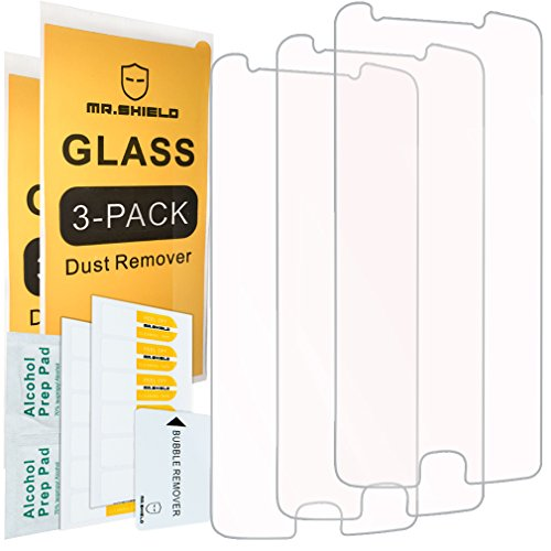 [3-Pack]- Mr Shield for Motorola Moto E4 Plus /Moto E Plus (4th Generation) [Tempered Glass] Screen Protector [0.3mm Ultra Thin 9H Hardness 2.5D Round Edge] with Lifetime Replacement Warranty