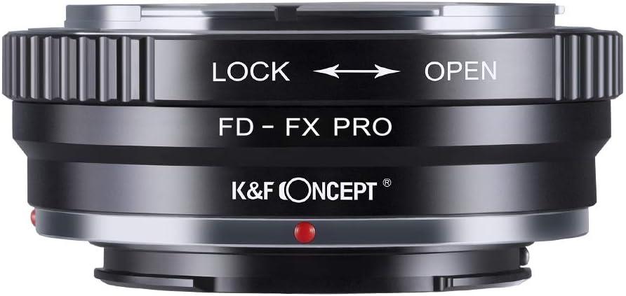 K/&F Concept FD-FX PRO Objektiv Adapter Objektivadapter Canon Adapter f/ür Canon FD Objektiv auf Fujifilm FX Kamera mit Mattierungslack