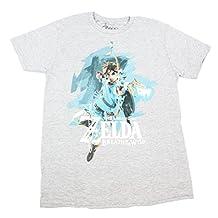 Legend of Zelda: Breath of the Wild Link with Bow Men's Grey T-Shirt