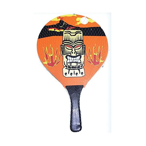 Racchettoni da spiaggia in legno con pallina mod.Fire, coppia racchette beach tennis in legno da 8mm, coppia racchetta… 1 spesavip
