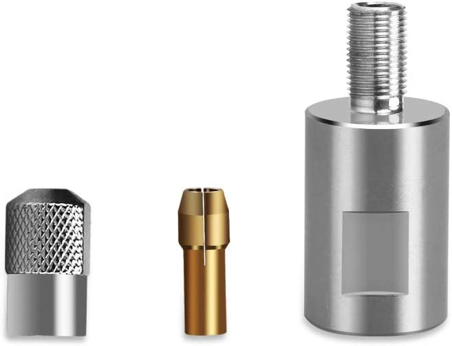 5//8-11 Mini Detail Polisher SPTA Stainless Steel Rotary Thread Adapter for Rotary Polisher Car Polisher