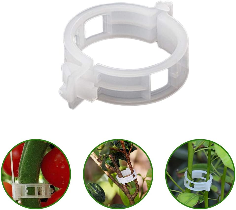 Kriszon 150 Pcs Plant Support Garden Clips,Plant Vine Clips,Plant Support Clips for Garden,Tomato Trellis Clips,for Vine Vegetables Tomato to Grow Upright and Makes Plants Healthier