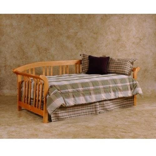 Dorchester Solid Pine Sleigh Daybed w Curved Slat Spindle