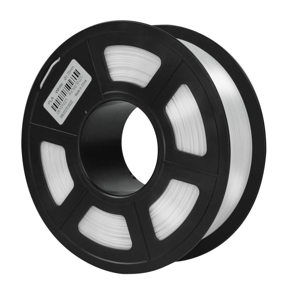 Respectueux de Lenvironnement Blanc, 1000g Pr/écision Dimensionnelle +//- 0,02 mm Sans Enchev/êtrement LONGER PLA Imprimante 3D Filament 1,75mm Largement Compatible Pour lImprimante 3D FDM