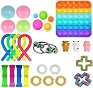 24 Pcs Fidget Toy Set, Cheap Sensory Fidget Toys Pack for Kids or Adults, Figetget Toys Pack Figit Toys, Fidge