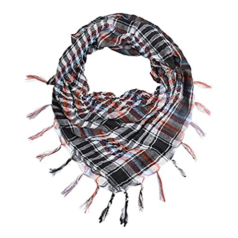 Multi-Colors Trendy Plaid & Houndstooth Check Soft Square Scarf, v1 (Hippie Acc)