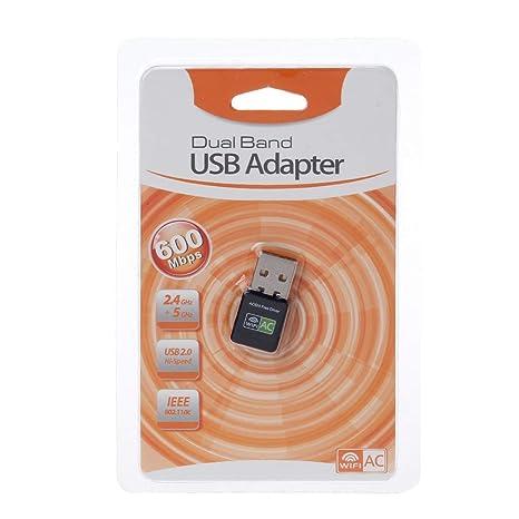 Yintiod - Tarjeta WLAN inalámbrica, 600 Mbps, Adaptador USB ...