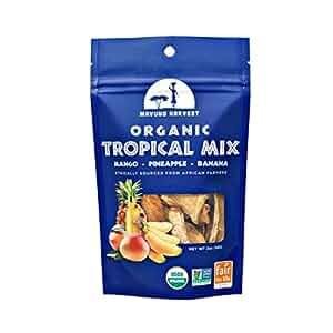 Mavuno Harvest Fair Trade Organic Dried Fruit, Tropical Mix- Mango, Pineapple and Banana, 2 Ounce (Pack of 6)