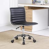 Black Faux Leather Office Chair With Ebook