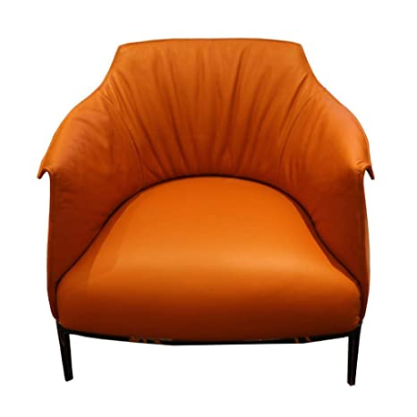 Amazon.com: Leather Single Sofa Size Apartment Villa Living ...