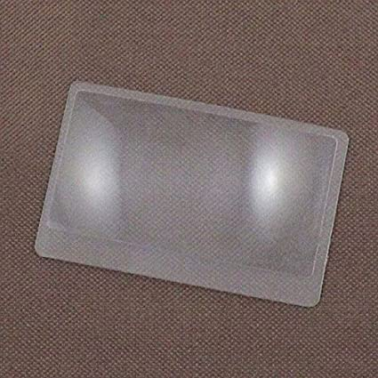 WOVELOT 3 x Lupa Aumento de magnificacion Fresnel Tamano de tarjeta de credito de bolsillo Lupa transparente