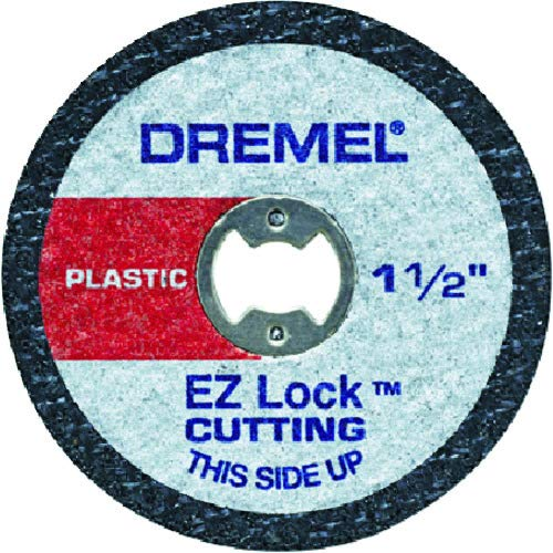Thick Plastic Cut - Dremel EZ476 1 1/2-Inch EZ Lock Rotary Tool Cut-Off Wheels For Plastic - 5 pack