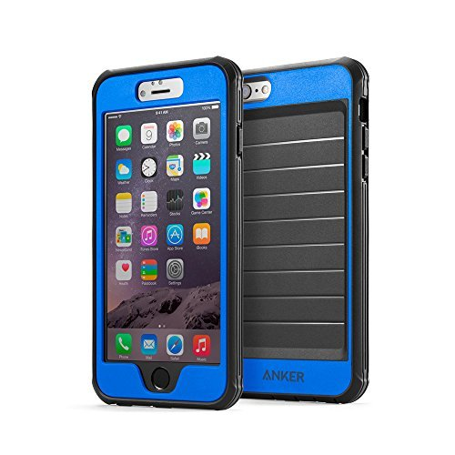 iPhone 6s Plus Case, Anker Ultra Protective Case with Built-in Clear Screen Protector for iPhone 6 Plus/iPhone 6s Plus (5.5 inch), Dust Proof Design (Blue/Navy Blue)