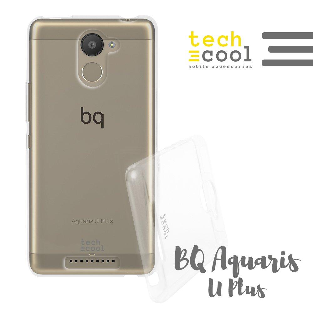 Techcool® Funda Silicona Transparente para BQ Aquaris U Plus [Gel Silicona Flexible Alta Calidad] [Ultra Slim 1,5 mm - Gran Resistencia] [Acabado ...